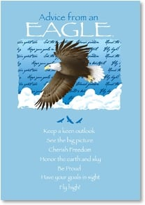 Motivation & Inspiration Card - Advice from an Eagle...Fly High! | Your True Nature® | 1_2002643-P | Leanin' Tree