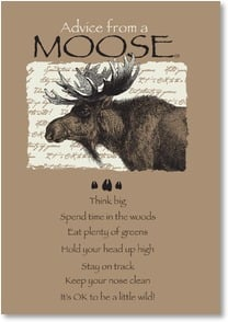 Blank Card with Quote / Saying - Advice from a MOOSE | Your True Nature® | 1_2002651-P | Leanin' Tree