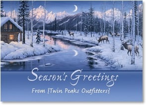 Holiday Card {Name} - May the peace and joy of the holiday season be with you... | Jeff Tift | 1_2002699-P | Leanin' Tree