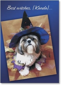 Birthday Card - Best wishes for a Yappy Birthday and a Fun Halloween! | Getty Images | 1_2002764-P | Leanin' Tree