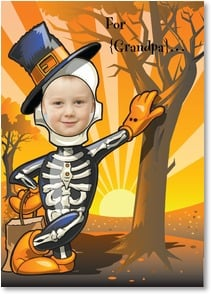 Halloween Card - Hope your Halloween tickles your funny bone! | Brant Nicholason | 1_2003318-P | Leanin' Tree