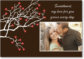 Valentine's Day Card - My love for you grows every day... | LT Studio | 2000150-P | Leanin' Tree