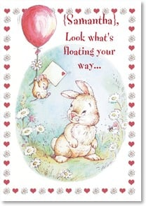 Valentine's Day Card - Valentine's Wishes Floating Your Way | Michael Abrams | 2000157-P | Leanin' Tree
