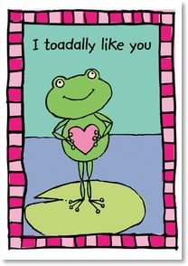 Valentine's Day Card - You're toadally cool! - 2000165-P | Leanin' Tree