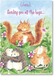 Valentine's Day Card - Sending You All The Hugs | Margaret Sherry | 2000169-P | Leanin' Tree