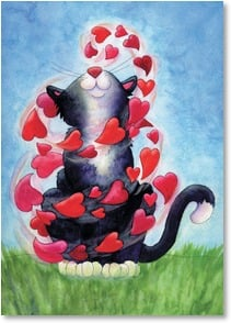 Valentine's Day Card - Staff Pick - Feel the Love! | Winky Wheeler | 2000171-P | Leanin' Tree