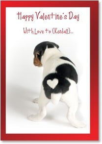Valentine's Day Card - Staff Pick - With love from the bottom of my heart! | Kim Crisler | 2000180-P | Leanin' Tree