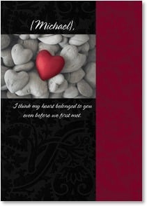 Valentine's Day Card - My heart belongs to you | Fotosearch | 2000186-P | Leanin' Tree