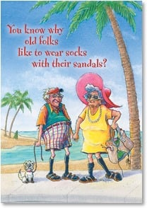 Birthday Card - Why do old folks wear socks with sandals | Crash Cooper | 2000204-P | Leanin' Tree