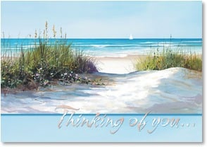 Thinking of You Card - Bright beach days | Jacqueline Penney | 2000211-P | Leanin' Tree