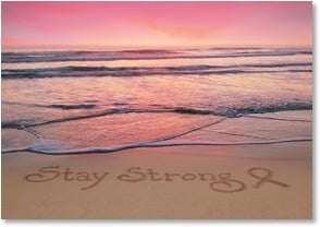 Cancer Support Card - I'll be strong enough for both of us.  | Susan Y. Davis | 2000255-P | Leanin' Tree
