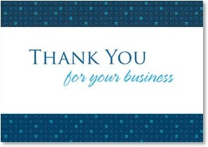 Thank You for Your Business - Blue Tiles | LT Studio | 2000272-P | Leanin' Tree
