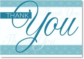 Thank You & Appreciation Card - Aqua Pool | LT Studio | 2000273-P | Leanin' Tree