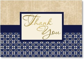 Thank You &amp; Appreciation Card - Parchment and Cobalt | LT Studio | 2000274-P | Leanin' Tree
