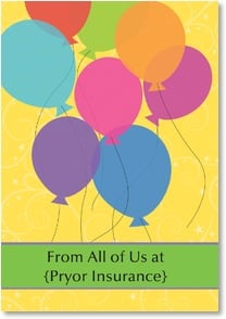Birthday Card - Staff Pick - Party Balloons | LT Studio | 2000288-P | Leanin' Tree