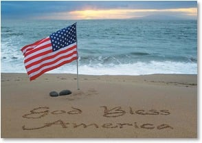 Patriotic &amp; American Pride Card - God Bless You Too | Susan Y. Davis | 2000296-P | Leanin' Tree