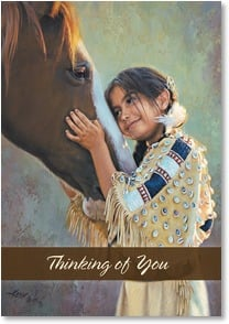 Loving Thoughts Card - Friendship is the Purest Form of Love | Karen Noles | 2000315-P | Leanin' Tree