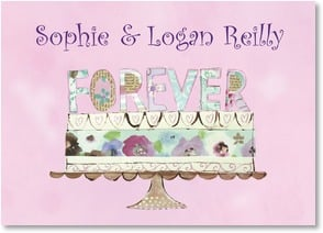Thank You Card - Wedding Gift - Forever Cake Thank You | Jane Kitching | 2000344-P | Leanin' Tree