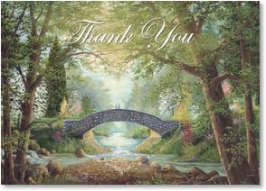 Thank You Card - Wedding Gift - The Two Shall Become One Thank You - 2000351-P | Leanin' Tree