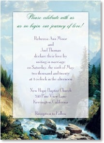 Wedding Invitation - Journey of Love Wedding Invitation | D. Michael McCarthy | 2000355-P | Leanin' Tree