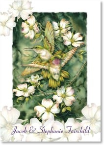 Thank You Card - Wedding Gift - Hummingbird Thank You | Jody Bergsma | 2000387-P | Leanin' Tree