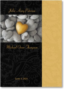 Wedding Invitation - Heart of Gold Wedding Invitation | Fotosearch | 2000388-P | Leanin' Tree