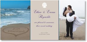 Wedding Announcement - Oceans of Wedded Bliss | Susan Y. Davis | 2000418-P | Leanin' Tree