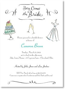Engagement Invitation - Here Comes the Bride | Anne Keenan Higgins | 2000459-P | Leanin' Tree