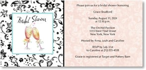 Engagement Invitation - Cheers to the Bride | Sue Zipkin | 2000463-P | Leanin' Tree