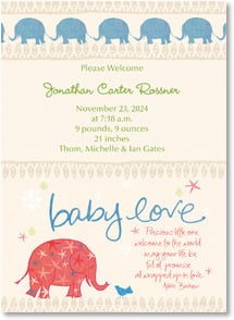 Baby Announcement - Precious little one, welcome to the world... | Intrinsic by Design® | 2000488-P | Leanin' Tree