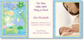 Baby Announcement - Our new little wild thing is here! | Viv Eisner | 2000492-P | Leanin' Tree