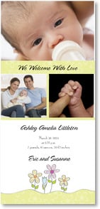 Baby Announcement - We welcome with love... | LT Studio | 2000497-P | Leanin' Tree