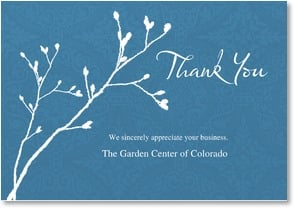 Thank you for your business thank you we sincerely for We appreciate your business cards