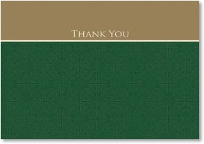Thank You & Appreciation Card - Gold and Green Elegance | LT Studio | 2000531-P | Leanin' Tree