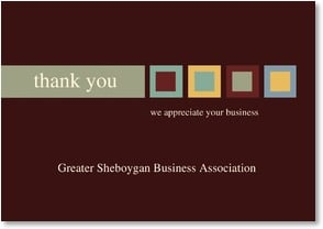 Thank You For Your Business {Name} - Handsome Earthtone Graphic | LT Studio | 2000532-P | Leanin' Tree