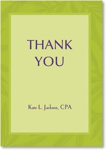 Thank You Card {Name} - Green Leaf Simplicity | LT Studio | 2000536-P | Leanin' Tree