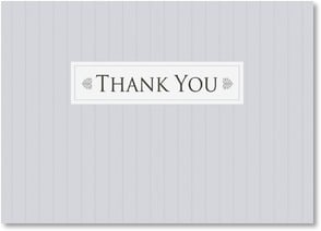 Thank You Note - Thank You - Grey Pinstripe Design | LT Studio | 2000554-P | Leanin' Tree