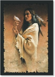 Get Well Card - May the Spirit of Peace Enfold You | Lee Bogle | 2000598-P | Leanin' Tree
