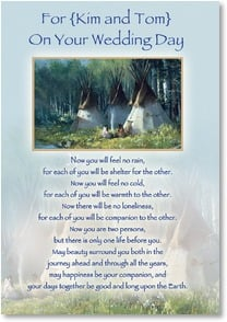 Wedding Card - May Beauty Surround You Both | Joni Falk | 2000600-P | Leanin' Tree