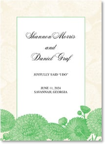 Wedding Announcement - We Joyfully Said 'I Do' - Green | LT Studio | 2000700-P | Leanin' Tree