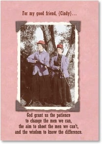 Feel Better Card - God Grant Us the Patience | Maggie Mae Sharp | 2000720-P | Leanin' Tree