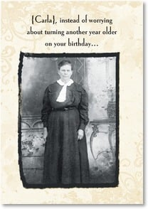 Birthday Card - Give the Devil a Cold Chill | Maggie Mae Sharp | 2000724-P | Leanin' Tree