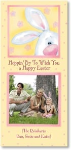 Easter Card - Hoppin' By To Wish You a Happy Easter | Shelly Comiskey | 2000735-P | Leanin' Tree