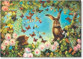 Easter Card - A Wonderland of Springtime Delights | Pamela Silin-Palmer | 2000741-P | Leanin' Tree