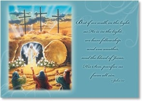 Easter Card - The Miracle That Is Easter; I John 1:7 | Doug Knutson | 2000743-P | Leanin' Tree