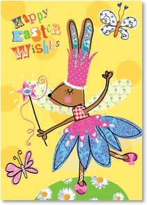 Easter Card - May your Easter be magical and your springtime delightful! | Paper D'Art | 2000750-P | Leanin' Tree