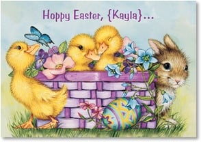 Easter Card - Hope Your Springtime Is Just Ducky | Lisa McCue | 2000752-P | Leanin' Tree