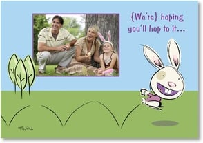 Easter Card - Hop to it and have a Happy Easter | Michael Rhoda | 2000761-P | Leanin' Tree