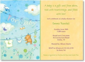 Baby Shower Invitation - A baby is a gift sent from above. | Viv Eisner | 2000790-P | Leanin' Tree