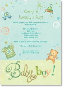 Baby Shower Invitation - A boy! | Viv Eisner | 2000792-P | Leanin' Tree